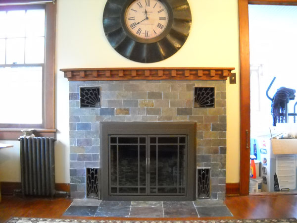 hudson valley  ny remodeling contractors agape Craftsman Style Fireplace Doors Mission Style Fireplace Tiles